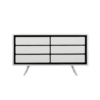 Brayden Studio Loughlin 6 Drawers Combo Dresser