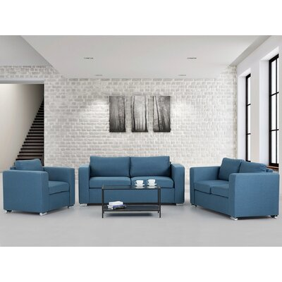 Brayden Studio Cousins 3 Piece Living Room Set