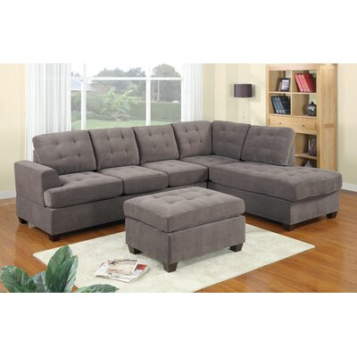 Brayden Studio Aedesia Reversible Sectional