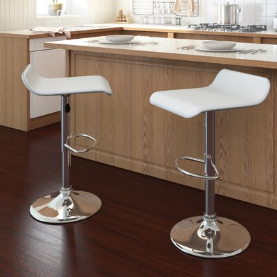 Wade Logan Adjustable Height Swivel Bar Stool (Set of 2)
