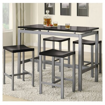 Wade Logan Daryl 5 Piece Counter Height Pub Tabl..