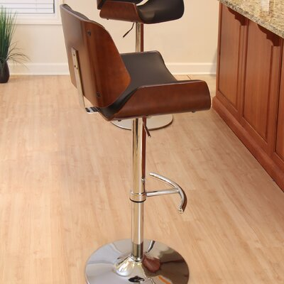 Wade Logan Connor Adjustable Height Swivel Bar ..