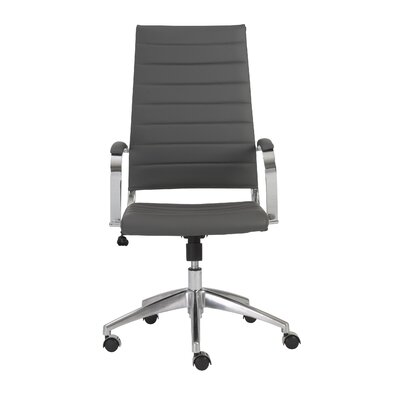 Wade Logan Emil High-Back Leathere Office Chair with Arms