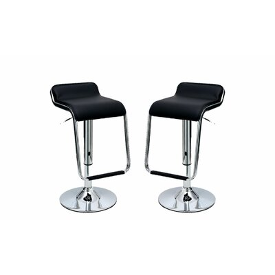 Wade Logan Crosby Adjustable Height Swivel Bar Stool (Set of 2)