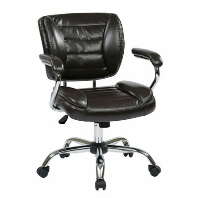 Wade Logan Atkinson Faux Leather Adjustable Office Chair