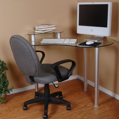 Wade Logan Copeland Computer Desk with Monitor Stand