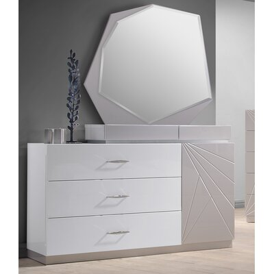 Wade Logan Ernesto 3 Drawer Dresser with Mirror