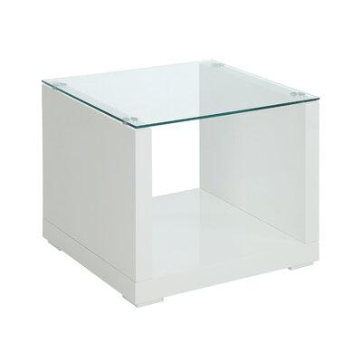 Wade Logan Merrill Glossy-Finish End Table