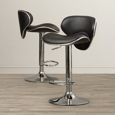 Wade Logan Brandon Adjustable Height Swivel Bar Stool (Set of 2)