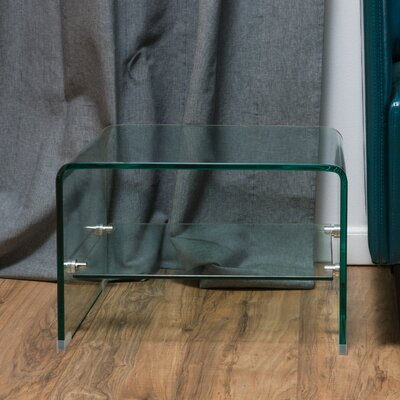 Wade Logan Cornish Hills Temporary Glass End Table