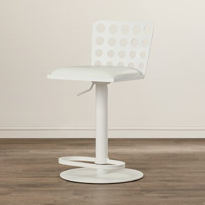 Wade Logan Lauderdale-by-the-Sea Adjustable Height Swivel Bar Stool