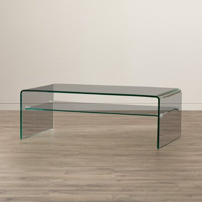 Wade Logan Pansy Glass Coffee Table
