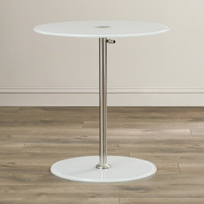 Wade Logan Wilbert Round Glass Side Table