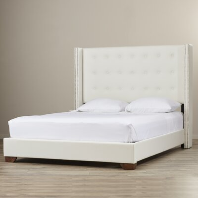 Wade Logan Arno Queen Upholstered Panel Bed