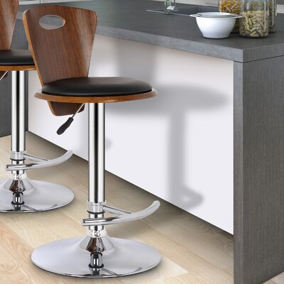 Wade Logan Adjustable Height Swivel Bar Stool