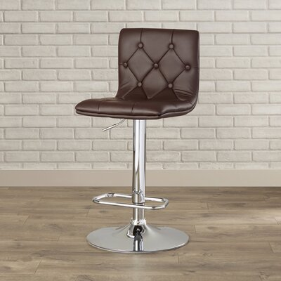 Wade Logan Clay Adjustable Height Swivel Bar Stool (Set of 2)