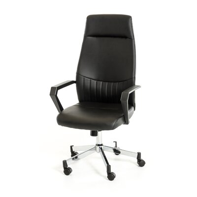 Wade Logan Gerardo High-Back Leather Office Chair