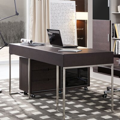 Wade Logan Carter Office Desk with Side Cabinet