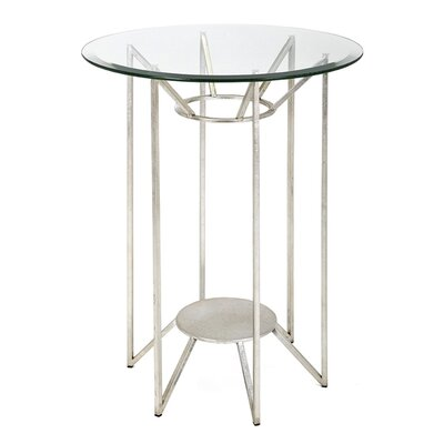 Wade Logan Witchel Metal and Glass End Table