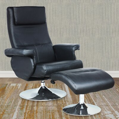 Wade Logan Josue Chair Recliner and Ottoman