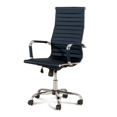 Wade Logan Alessandro High-Back Office Chair with Casters