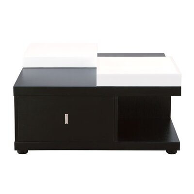 Wade Logan Ammar Coffee Table with Tray Top