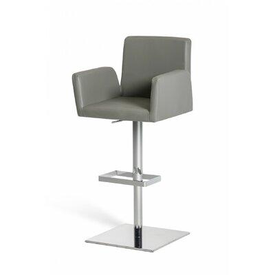 Wade Logan Patterson Adjustable Height Swivel Bar Stool