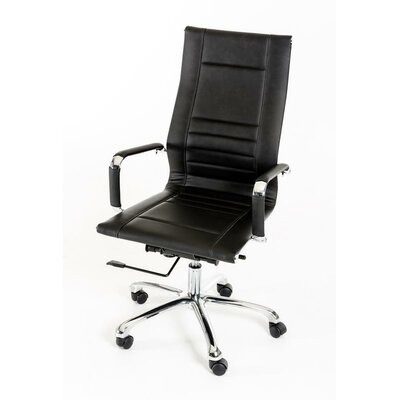Wade Logan Belafonte Modern High-Back Leather Executive Chair