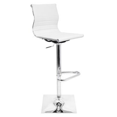 Wade Logan Cadoz Adjustable Height Swivel Bar Stool