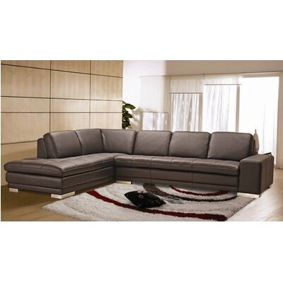 Wade Logan Bender Left Leather Sectional