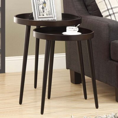 Corrigan Studio Deltha 2 Piece Nesting Table Set