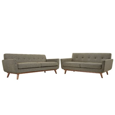 Corrigan Studio Saginaw Loveseat and Sofa Set