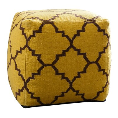 Corrigan Studio Palos Verdes Lattice Square Pouf Ottoman