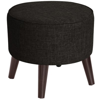Corrigan Studio Hogan Round Ottoman with Splayed Legs