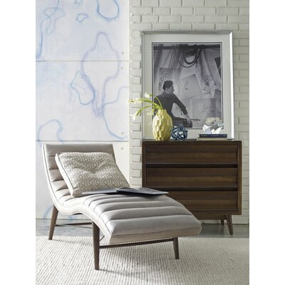 Corrigan Studio Cushendall Leather Chaise Lounge