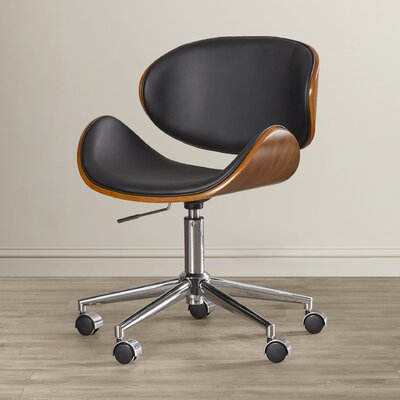 Wade Logan Enzo Mid-Back Leather Office Chair