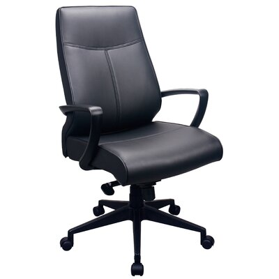 Tempur-Pedic High-Back Leather Executive Office Chair with Arms
