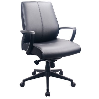 Tempur-Pedic Mid-Back Leather Executive Office Chair with Arms