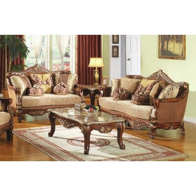 BestMasterFurniture 2 Piece Traditional Living Room Set