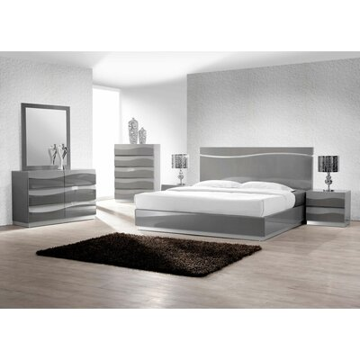 BestMasterFurniture Leon Platform 5 Piece Bedroom Set