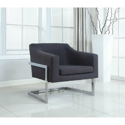 BestMasterFurniture Modern Arm Chair with Chrome Legs