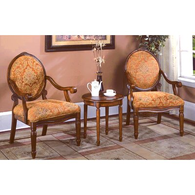 BestMasterFurniture Traditonal 3 Pieces Living Room Arm Chair Set