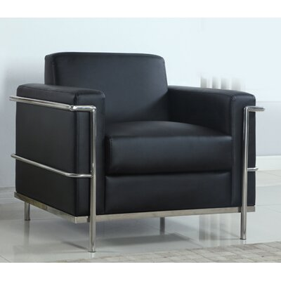 BestMasterFurniture Modern Arm Chair with Chrome Frame