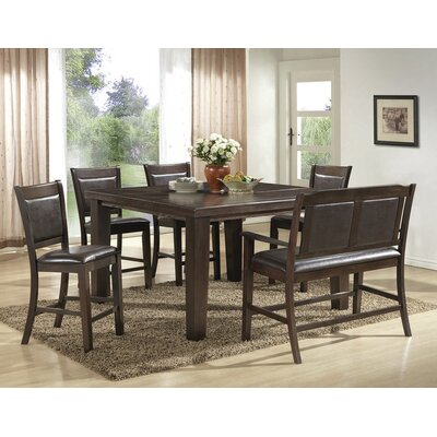 BestMasterFurniture 6 Piece Counter Height Pub Table Set