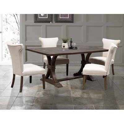 BestMasterFurniture Weathered Oak Rustic Dining Table