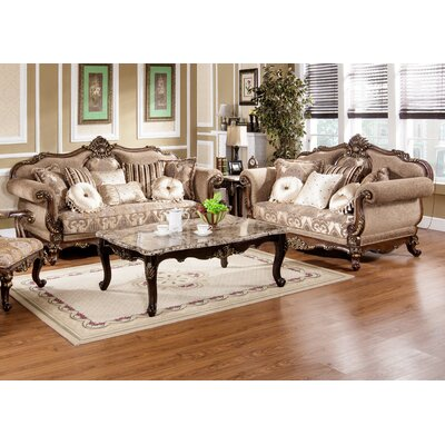 BestMasterFurniture Traditional Sofa and Loveseat Set