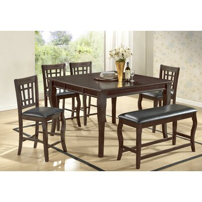 BestMasterFurniture Betty 6 Piece Counter Height Dining Set