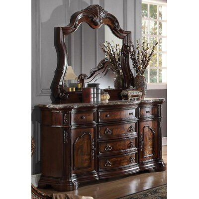 BestMasterFurniture 6 Drawer Combo Dresser with Mirror