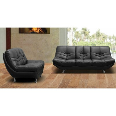 BestMasterFurniture Leather Sofa and Loveseat Set