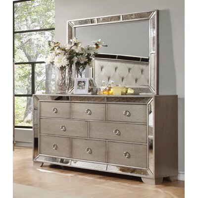 BestMasterFurniture Ava 8 Drawer Dresser with Mirror